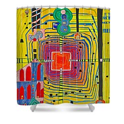Hundertwassers Close Up Of Infinity Tagores Sun Shower Curtain