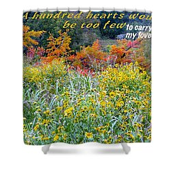 Shower Curtain featuring the photograph Hundred Hearts by David Norman