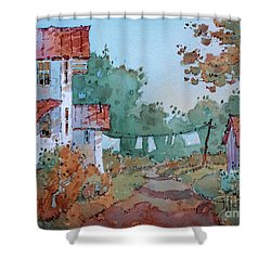 Hung Out To Dry Shower Curtain
