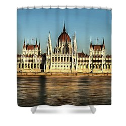 Hungarian National Parliament Shower Curtain
