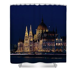 Hungarian Parliament Building #1 Shower Curtain