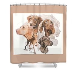 Hungarian Vizsla W/ghost Shower Curtain