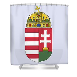 Hungary Coat Of Arms Shower Curtain by Movie Poster Prints
