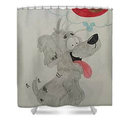 Hungry Dog Shower Curtain