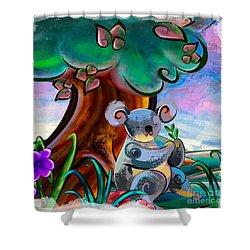 Koala Shower Curtains Pixels