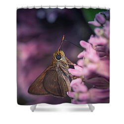 Hungry Moth Shower Curtain