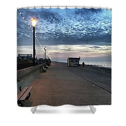 Hunstanton At 5pm Today  #sea #beach Shower Curtain by John Edwards