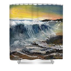 Hunter's Moon Shower Curtain by Randy Sprout