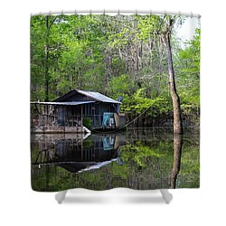 Hunting And Fishing Cabin Shower Curtain