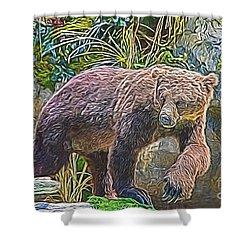 Hunting Bear Shower Curtain