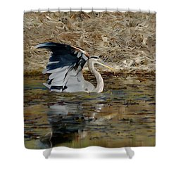Hunting For Fish 5 - Digitalart Shower Curtain