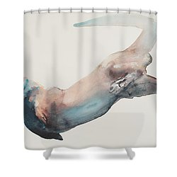 Hunting In The Deep Shower Curtain by Mark Adlington