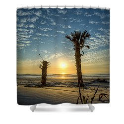 Hunting Island State Park Beach Sunrise Shower Curtain