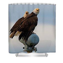 Hunting Pair Shower Curtain