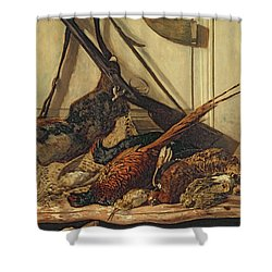 Hunting Trophies Shower Curtain by Claude Monet