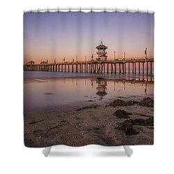 Shower Curtain featuring the photograph Huntington Beach Pier by Sean Foster