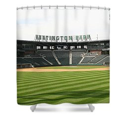 Huntington Park Baseball Field Shower Curtain
