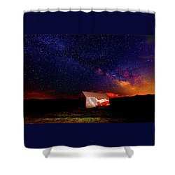 Huntsville Barn Shower Curtain
