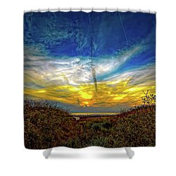 Huron Evening 2 Shower Curtain by Steve Harrington