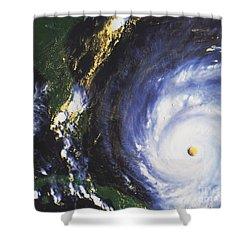 Hurricane Floyd Shower Curtain by NASA / Science Source