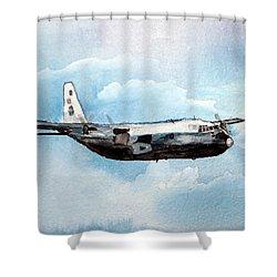 Hurricane Hunter Shower Curtain by R Kyllo