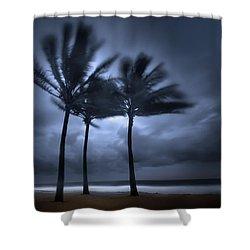 Hurricane Matthew Shower Curtain by Mark Andrew Thomas
