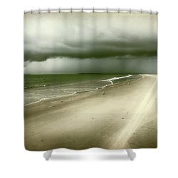 Hurricane Storm Ocracoke Island Outer Banks Shower Curtain