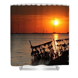 Husum Sunset Shower Curtain