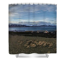 Hvalfjorour Panorama Shower Curtain