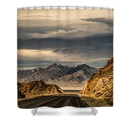 Hwy 50 New Pass Summit Shower Curtain