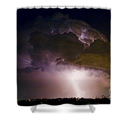 Hwy 52 - 08-15-2010 Lightning Storm Image 42 Shower Curtain by James BO  Insogna