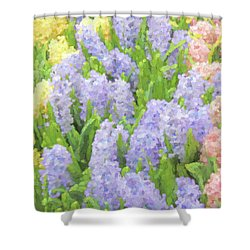 Shower Curtain featuring the photograph Hyacinth Flowers In The Spring Garden by Jennie Marie Schell