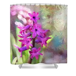 Hyacinth Shower Curtain by Louise Lavallee