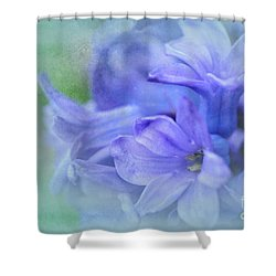 Hyacinths Of Spring Shower Curtain by Elaine Manley