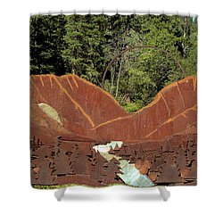 Hyalite Canyon Sculpture Shower Curtain