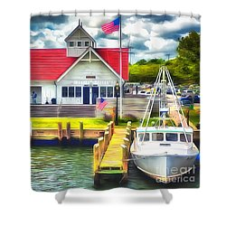 Hyannis The Coastguard Shower Curtain