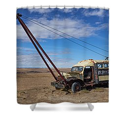 Hybrid Vehicle Shower Curtain by Trever Miller
