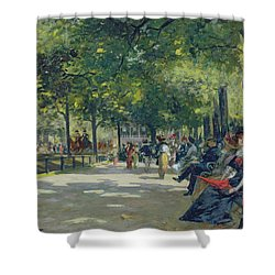 Hyde Park - London  Shower Curtain by Count Girolamo Pieri Nerli