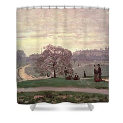 Hyde Park Shower Curtain by Claude Monet