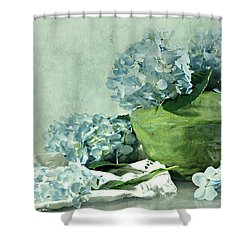 Hydra Blues Shower Curtain by Diana Angstadt