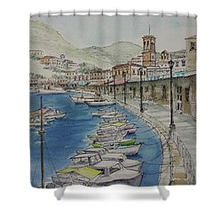 Hydra Clock Tower Shower Curtain