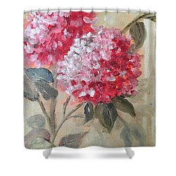 Hydranga Shower Curtain by Sharon Schultz