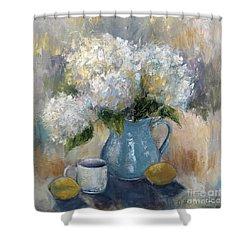 Hydrangea Morning Shower Curtain