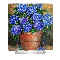 Hydrangeas In Pot Shower Curtain