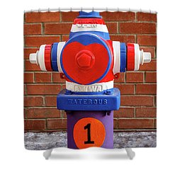 Hydrant Number One Shower Curtain by James Eddy