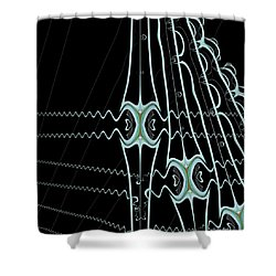 Shower Curtain featuring the digital art Hydras by Dragica  Micki Fortuna