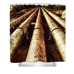 Hydroelectric Pipeline Shower Curtain