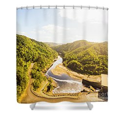 Hydropower Valley River Shower Curtain