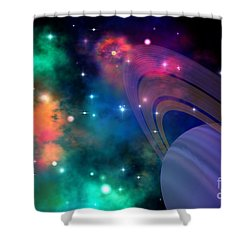 Hyperbola Shower Curtain by Corey Ford
