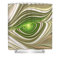 Shower Curtain featuring the digital art Hypnotic Eye by Anastasiya Malakhova
